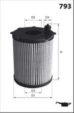 Filtre à huile MECAFILTER ELH4446C