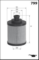 Filtre à huile MECAFILTER ELH4468