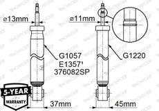 Amortisseur (à l'unité) MONROE G1220