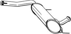Silencieux central BOSAL 200-729