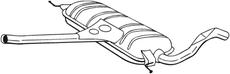 Silencieux central BOSAL 282-563