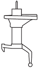 Amortisseur (à l'unité) KYB 331018