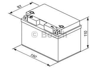 BOSCH - Batterie moto Bosch 12V 9 Ah 200 A - (Ref origine: YTZ12S-4 ou YTZ12S-BS ou TTZ12 S -BS) - 0092M60120