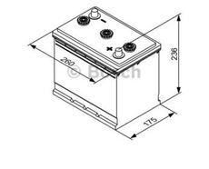 BOSCH - Batterie poids lourd Bosch 6V 112 Ah 510 A - 0092T30610