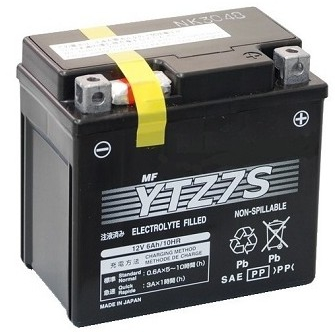 TOPCAR - Batterie moto 12V 11Ah - YTZ12S