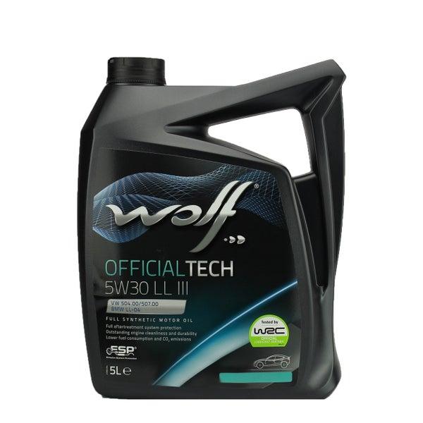 WOLF - Bidon 5 litres d'huile 5w30 Long Life III (LL III) Wolf 65604.5L