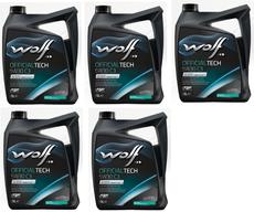 WOLF - 5 Bidons 1 litre d'huile moteur 5W30 C3-10 656061X5 - 65606.1X5