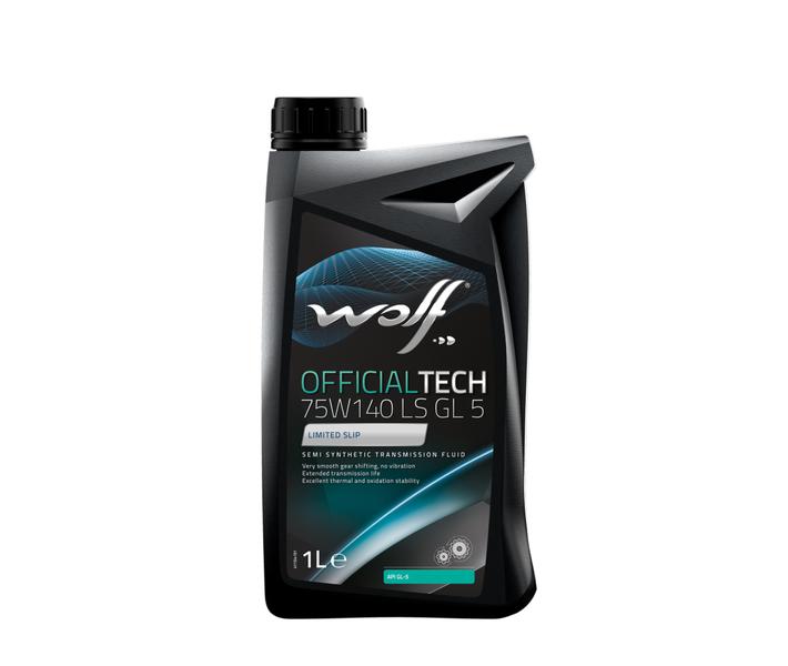 WOLF - Bidon 1 litre d'huile GEAR OIL GL 5 LS SAE 75W140 - 8304200